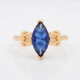 Элегантное кольцо с фианитами Xuping 10-1085-синий