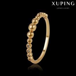 Позолоченное кольцо с фианитами оптом 14090