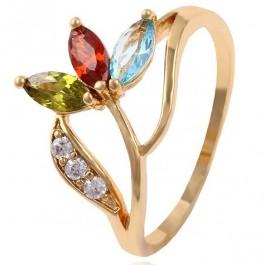 Привлекательное ювелирное кольцо с фианитами 13585-мультиколор