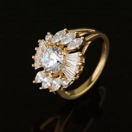 Позолоченное кольцо XP 1230-белый