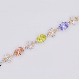 Шикарный ювелирный браслет 10-7015 - мультиколор