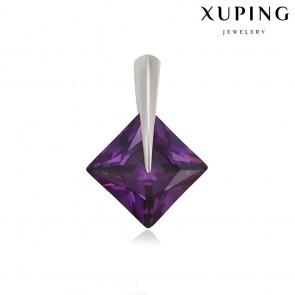 Позолоченный кулон XP33220-темн.фиолет фото | Brulik