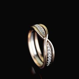Позолоченное кольцо Fallon 93200748