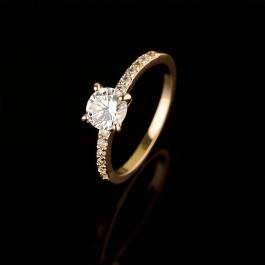 Позолоченное кольцо Fallon 83201411