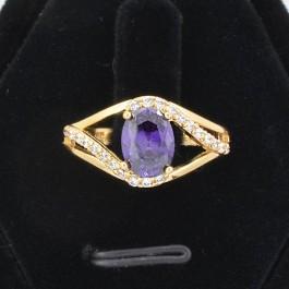 Восхитительное кольцо с фианитами ХР 10-1070-фиолетовый