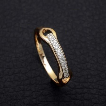 Нежное кольцо с фианитами Fallon 93200987 фото | Brulik