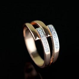 Позолоченное кольцо Fallon 93200694