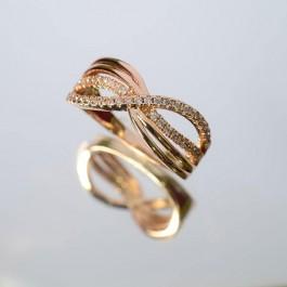 Позолоченное кольцо Fallon 83201036