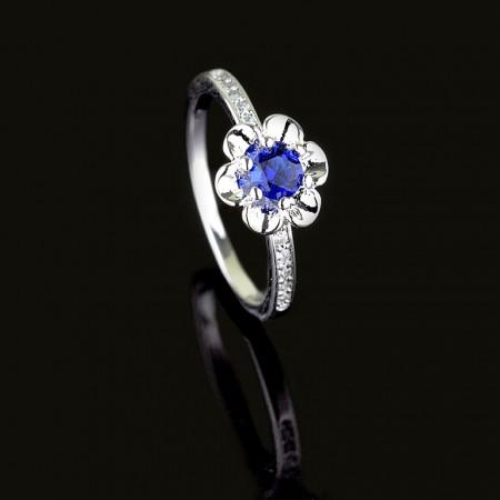 Позолоченное кольцо 13340 - синий фото | Brulik