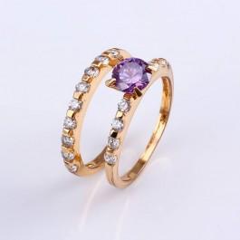 Стильное кольцо с фианитами XP 11478 - фиолетовый