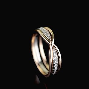 Позолоченное кольцо Fallon 93200748 фото | Brulik