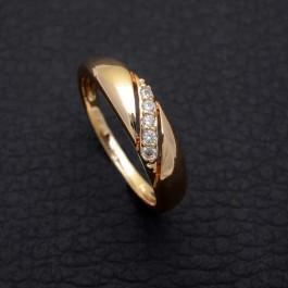 Позолоченное кольцо с фианитами Fallon 83200023