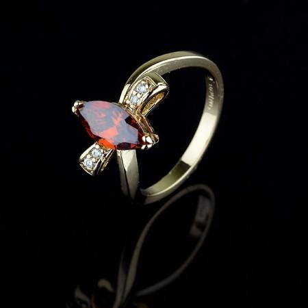 Позолоченное кольцо XP1942-красный фото | Brulik