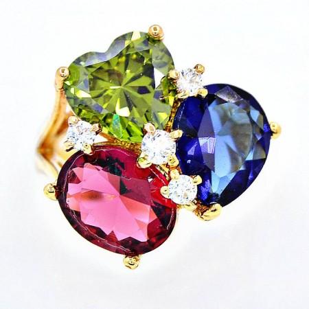 "Кольцо ""Три цвета"" 11404 фото   Brulik"