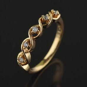 Позолоченное кольцо XP1957 фото | Brulik