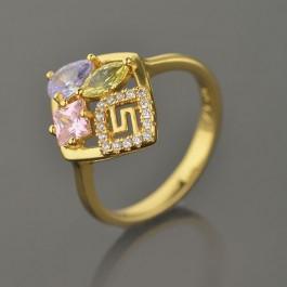 Позолоченное кольцо XP 1872-мультиколор