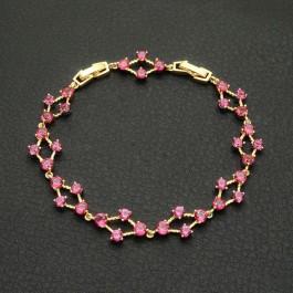 Фееричный браслет 18К 10-7017 - красный корунд