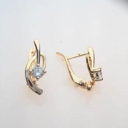 Позолоченные сережки с фианитами Fallon 82200437