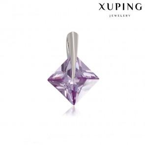 Позолоченный кулон XP33220-св.фиолет фото | Brulik
