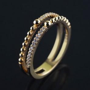 Позолоченное кольцо XP 1606 фото | Brulik