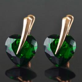 Позолоченные серьги Fallon 82200030-зеленый