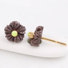 Очаровательные серьги в форме цветков Xuping 91787-темно-серый