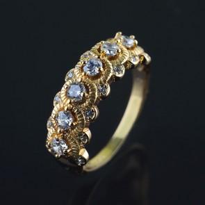 Позолоченное кольцо XP 1607 фото | Brulik