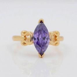 Элегантное кольцо с фианитами Xuping 10-1085-фиолетовый
