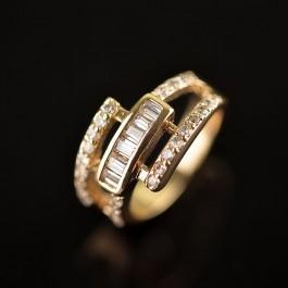 Позолоченное кольцо Fallon 8323233