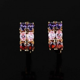 Изумительные серьги с фианитами Xuping 91676