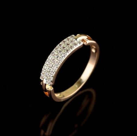 Позолоченное кольцо Fallon 93201218 фото | Brulik