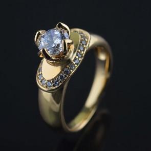 Позолоченное кольцо XP 1615 фото | Brulik